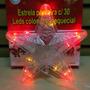 Estrela Ponteira Com 30 Leds Coloridos Sequecial
