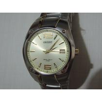 Relógio Orient Quartz Mtss1054 Prateado Brilhoso Luxuoso