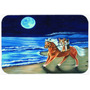 Corgi Passeio Da Praia No Cavalo Cozinha Ou Banho Mat 24x36