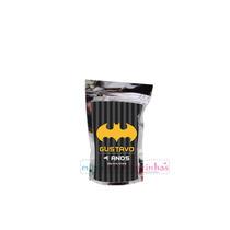 10 Saquinho Metalizado Batman Personalizado,tema Aniversári
