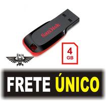 Pen Drive 4 Gb Sandisk 100% Original Lacrado - Frete Barato!