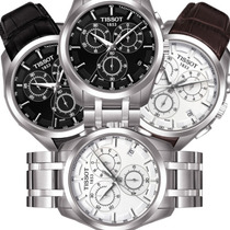 Relógio Tissot Couturier Couro Preto / Branco Aço Sdx Gratis