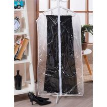 Capa Protetora Para Vestido Com Zíper 1,20m X 58cm 100% Pvc