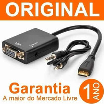 Cabo Conversor Adaptador Hdmi Para Vga Com Saida De Audio