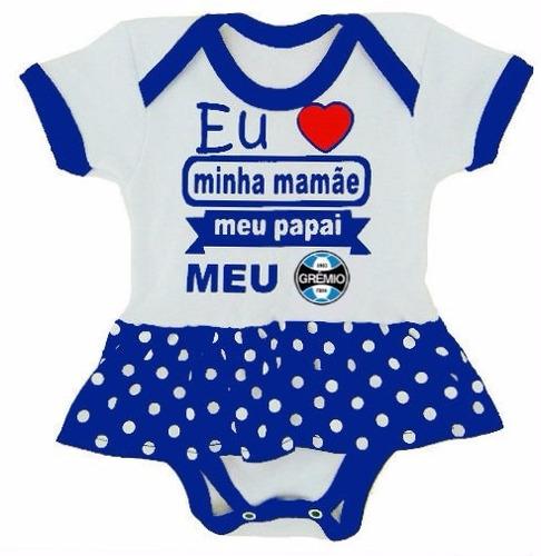 f9084da3af Body Bebê Com Sainha Gremio Infantil
