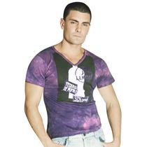 Camiseta Gola V Purple Tequila. Linda Para Balada.