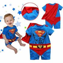 Macacão Body Bebê Fantasia Superman Super Homem
