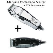 Kit 01 Maquinas Corte Fade Master + 01 Gtx Acabamento Andis