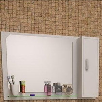 Espelheira Com Armário Para Banheiro Arezzo 80