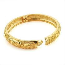Bracelete Desenhado Folheado Ouro 9k Gold Filled