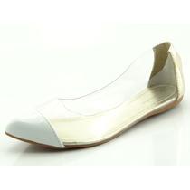 Sapatilha Glamm Lateral Vinil Branca - Sapatos Mania