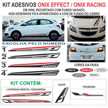 Faixa Lateral Chevrolet Onix Effect Prisma Sport Kit 2015