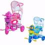 Triciclo Infantil C/capota 3x1 Música/luzes! Vira Gangorra