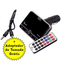 Transmissor Fm Veicular Mp3 Player Cartão Usb Navega Pastas