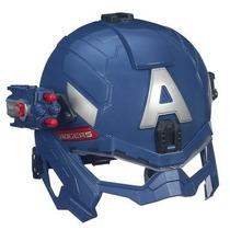 Avengers Capitão América Capacete Com Lança Projétil Hasbro