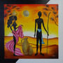 Pintura Óleo Sobre Tela - Paisagem Africanos(70x70cm) Painel