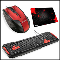 Kit Multilaser Mouse + Teclado Multimídia + Mousepad Grátis