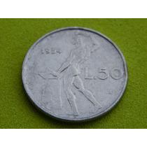 Moeda Da Itália De 1954 - 50 Liras (ref 159)