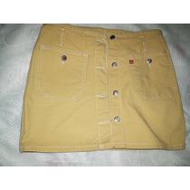 Saia Jeans Color Tamanho M