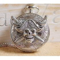 Relógio De Bolso - Com Estampa De Piratas -