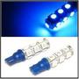 Par Lâmpada Pingo T10 13leds 5050 Azul 5w Xenon Frete Gratis