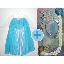 Fantasia Elsa Frozen Infantil Vestido + Acessórios N 2 A 10