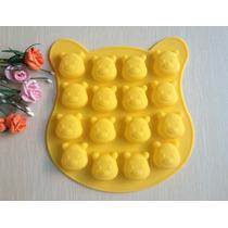 Molde De Silicone/ Ursinho Poof ,mini Bolos,cake,chocolate,