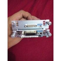 2 Placas Cisco Wic-1t + Placa De Inter Serial 1 Portas Wan