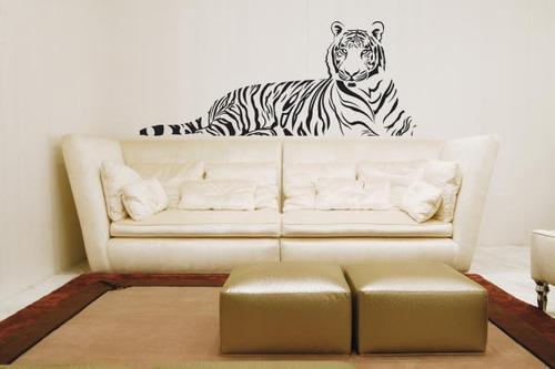 Armario Niños Ikea ~ Adesivo De Parede Decorativo Onça Tigre Grande Sala Quarto