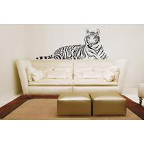 Adesivo De Parede Decorativo Onça Tigre Grande Sala Quarto