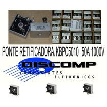 Ponte Retificadora Kbpc5010 50a 1000v - Caixa Com 50 Peças
