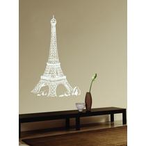Adesivo De Parede Decorativo Estátua Torre Eiffel Paris Sala