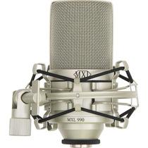 Mxl 990 Microfone Condensador Studio + Shockmount + Maleta