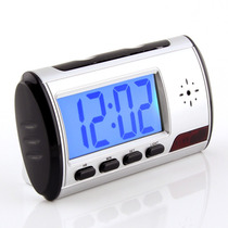 Relógio Despertador, Micro Câmera Espiã, Detector Movimento