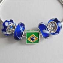 Pulseira Banhada A Prata Esterlina 925 Brasil