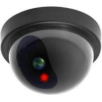 Câmera Segurança Residencial Falsa Realista Led Piscante