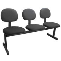 Longarina Multivisao Cadeira Para Sala De Espera 3 Assentos