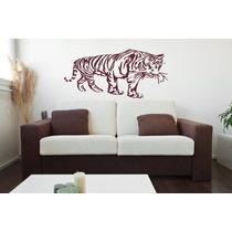Adesivo Decorativo De Parede Onça Tigre Grande Lindo Vinill