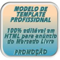 * Template Html Para Anúncios No Mercado Livre -mercadolivre