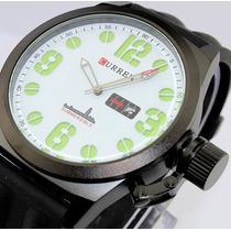 Relógio Analógico Curren Militar Submersible C/ Calendário