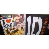 Kit One Direction Caderno 1m Chaveiro Adesivos