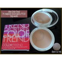 Avon Pó Compacto Facial Matte Fps 10 Bege Médio Color Trend