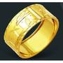 Anel Aliança  Escrava 3,5 Gr - Em Ouro 18k  - Largura 10mm