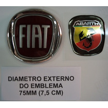 Abarth Aplique Resinado 75mm Emblema Original - Frete Gratis