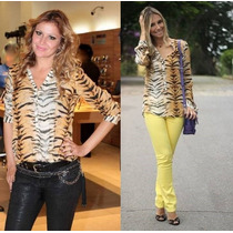 Camisa/blusa Feminina Tigre Leopardo Importadafrete Grátis