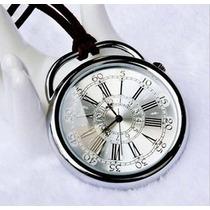 Relógio De Bolso Antigo Classic Prata Vintage