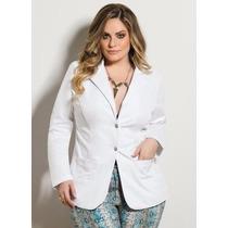 Roupa Tamanhos Grandes - Blazer Branco Plus Size