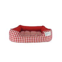 Cama Pet Confort Pillow Xadrez Vermelha