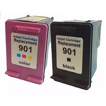 Kit 2 Cartuchos Hp 901 Preto + 901 Color Compativel 100%novo