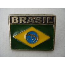 Pin Boton Broche Bandeira Do Brasil Copa Moto Militar Rock